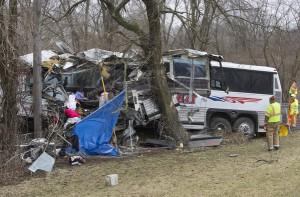 Fatal bus crash on the Pennsylvania Turnpike